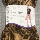 RAMPAGE Golden Orange Gray Tiger Leopard Print Thick Fleece Legging
