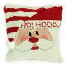 """Glitzhome 14"""" X 14"""" Hooked Pillow with Santa"""