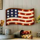 "Glitzhome 13.94"" H LED Marquee Sign Light Patriotic Flag"