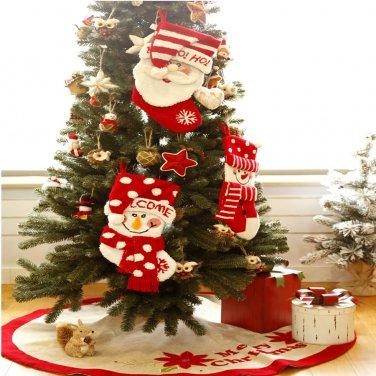 "Free shipping! Glitzhome Handmade 19"" Hooked 3D Penguin Christmas Stocking"