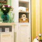 "Glitzhome 65.55""H Wooden Floor Storage Cabinet with 3-Shelf and 1 Shutter Door"