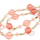 Beautiful Pink Resin Ice Necklace