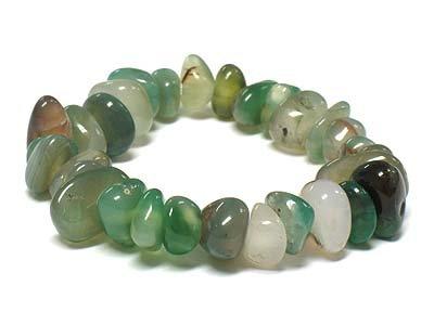 Beautiful Green Stone Stretch Bracelet