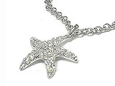 Beautiful Crystal Starfish Necklace