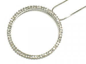 Beautiful Crystal Tiffany Style Round Necklace