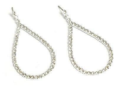 Beautiful Crystal Teardrop Earrings