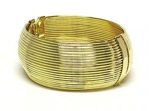 Beautiful Antique Style Multi String Gold Bracelet