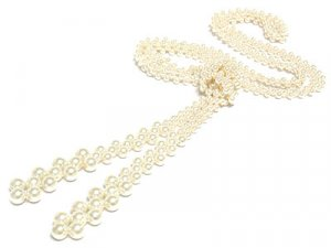 Glass Tie a Knot Pearl Necklace