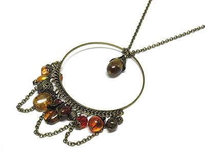 Multi charm Drop necklace
