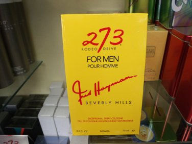 273 by Fred Hayman 2.5 oz 75 ml Edt Retail Price $ 50.00 Our price 29.99 Save 40 %