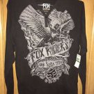 "Fox Racing - New - ""Slander"" L/S Henley - Black - Size L"