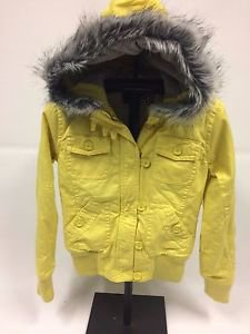 """Fox Racing """"Lexie"""" Canvas Insulated Jacket - Yellow - NEW"""