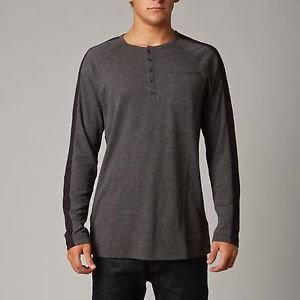 """Fox Racing - New - """"Reflux"""" L/S Knit Henley - Charcoal Heather - Size L"""