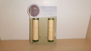Organic Bikes Bamboo Locking Grips with GREEN Annodized caps - NEW
