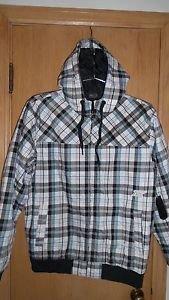 "Fox Racing ""Fox Plaid"" Insulated Jacket - White/Black/Blue  L - NEW"