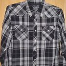 "Fox Racing ""Darryl"" L/S Woven Shirt - Black Plaid Size L - NEW"