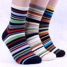 5PAIRS(5colors)=1PACK COLOR STRIPE MAN MEN SOCKS