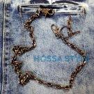 Basic Motorcycle GUNMETAL Simple Hiphop Punk Rock LA Jeans Wallet Key Chain BM7