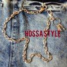 Basic Motorcycle Silver Simple Hiphop Punk Rock LA Jeans Wallet Key Chain BM4