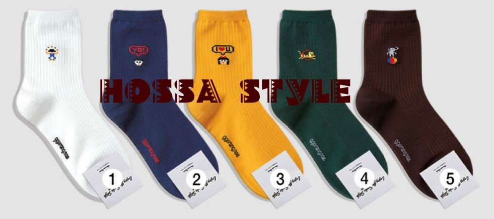 5PAIRS(5colors)=1PACK COLOR NINTENDO GAME WOMEN COTTON GOOD SOCKS MADE IN KOREA
