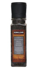 Kirkland Signature Tellicherry Black Pepper Grinder (Net WT 178g/6.3oz) X 3Pack