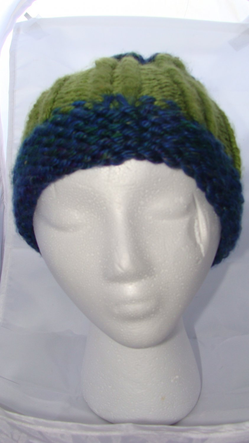 Adult Green and blue hat