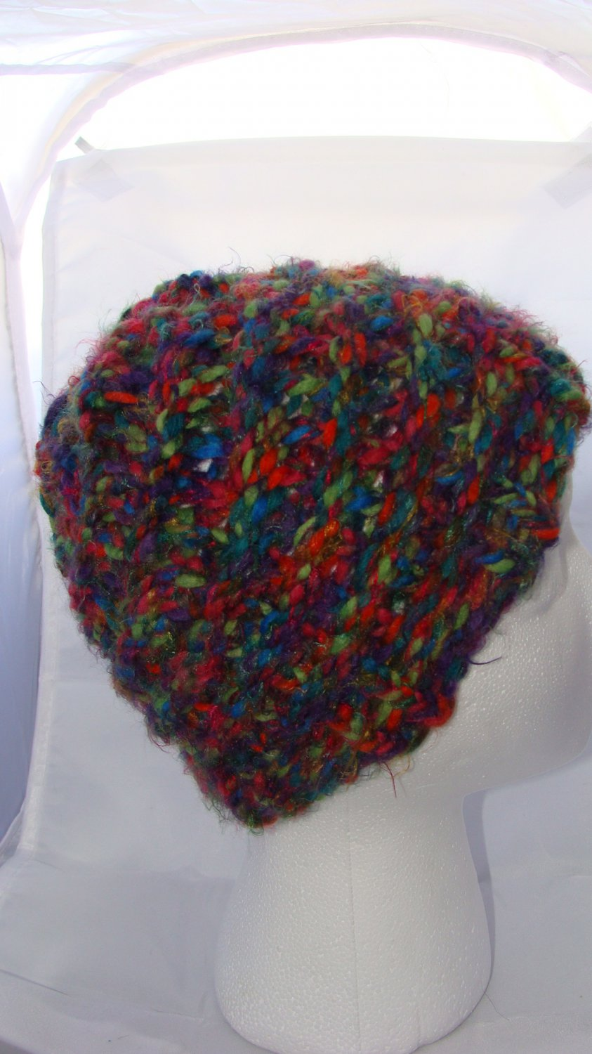 Adult Fun and colorful hat with a spiral design