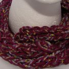 Adult Purple corded scarf