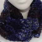 Adult Purple and blue ribbed scarf