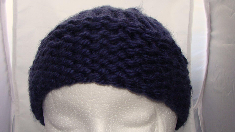 Adult Dark blue bulky hat