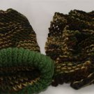 Kids Camo colored  hat and scarf combo