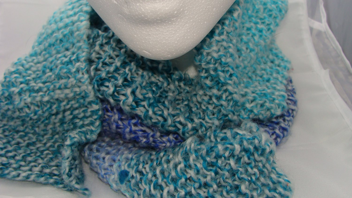 Adult Blue and green wide scarf