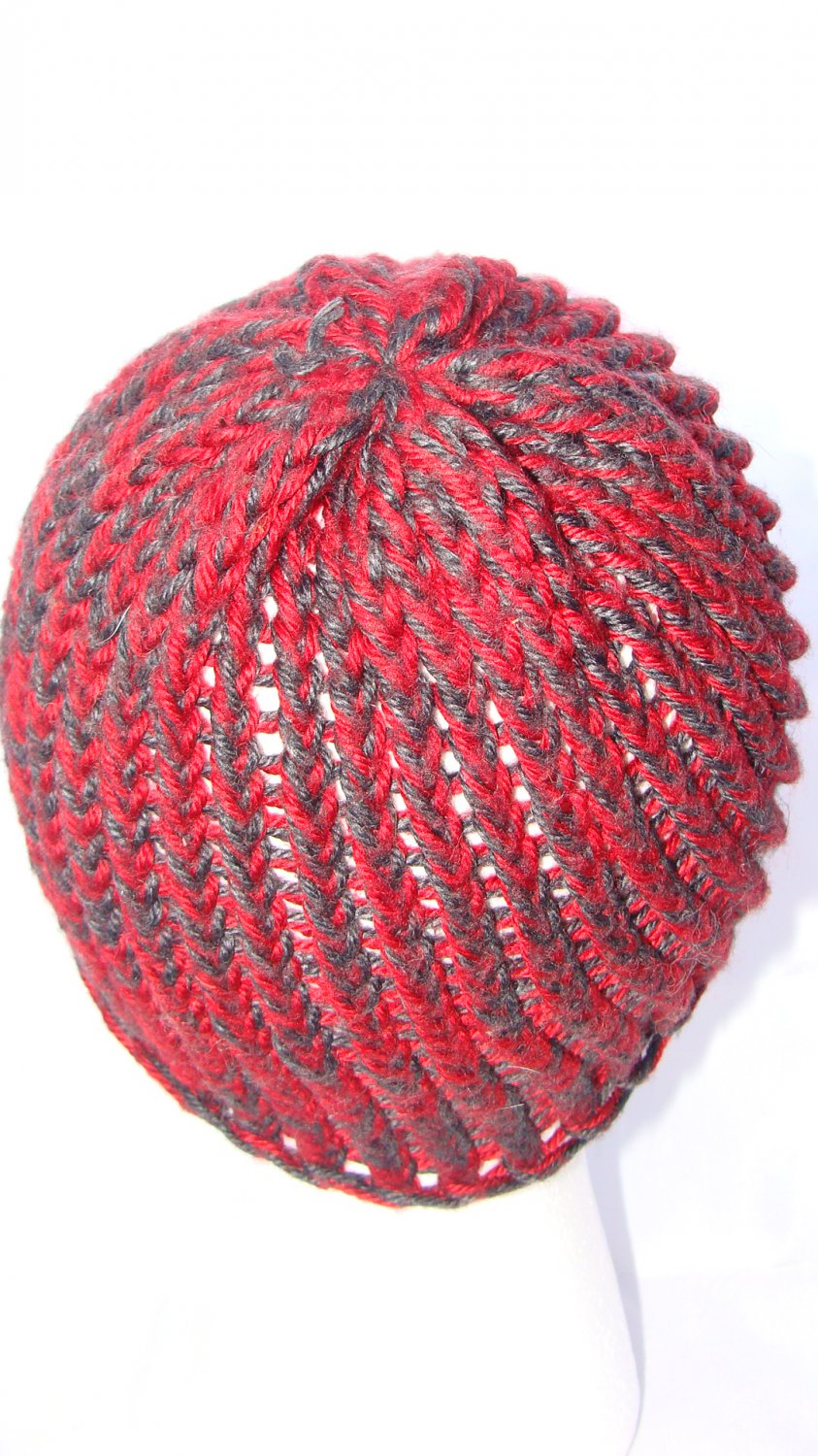 Adult Modest red and grey hat