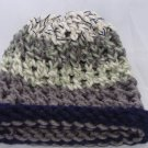 Kids Green, blue and grey hat