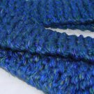 Adult bulky blue scarf
