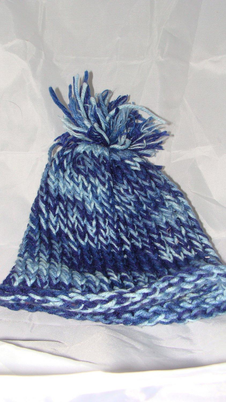 Kids Blue hat with pompom