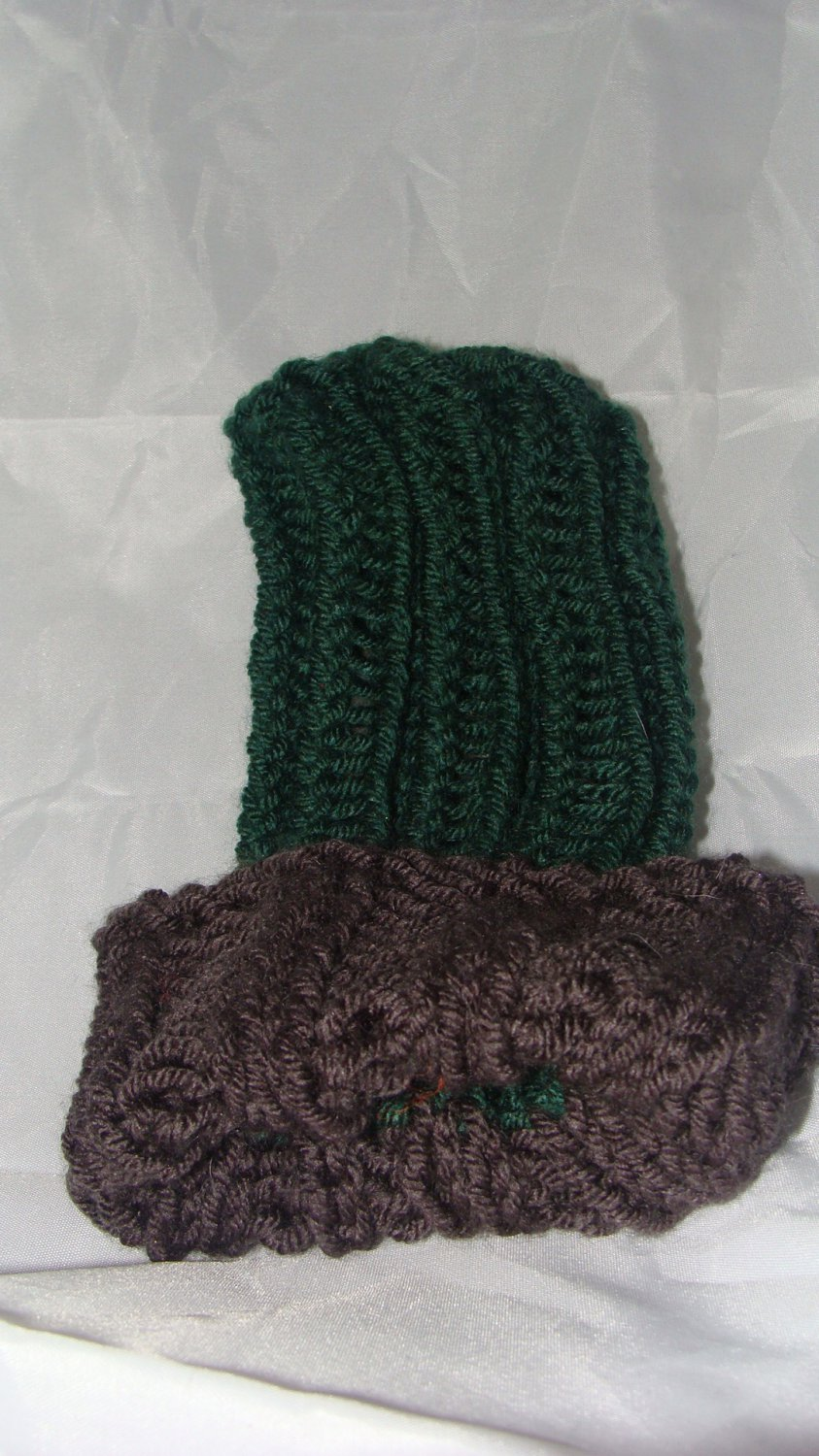 Kids Green and grey hat