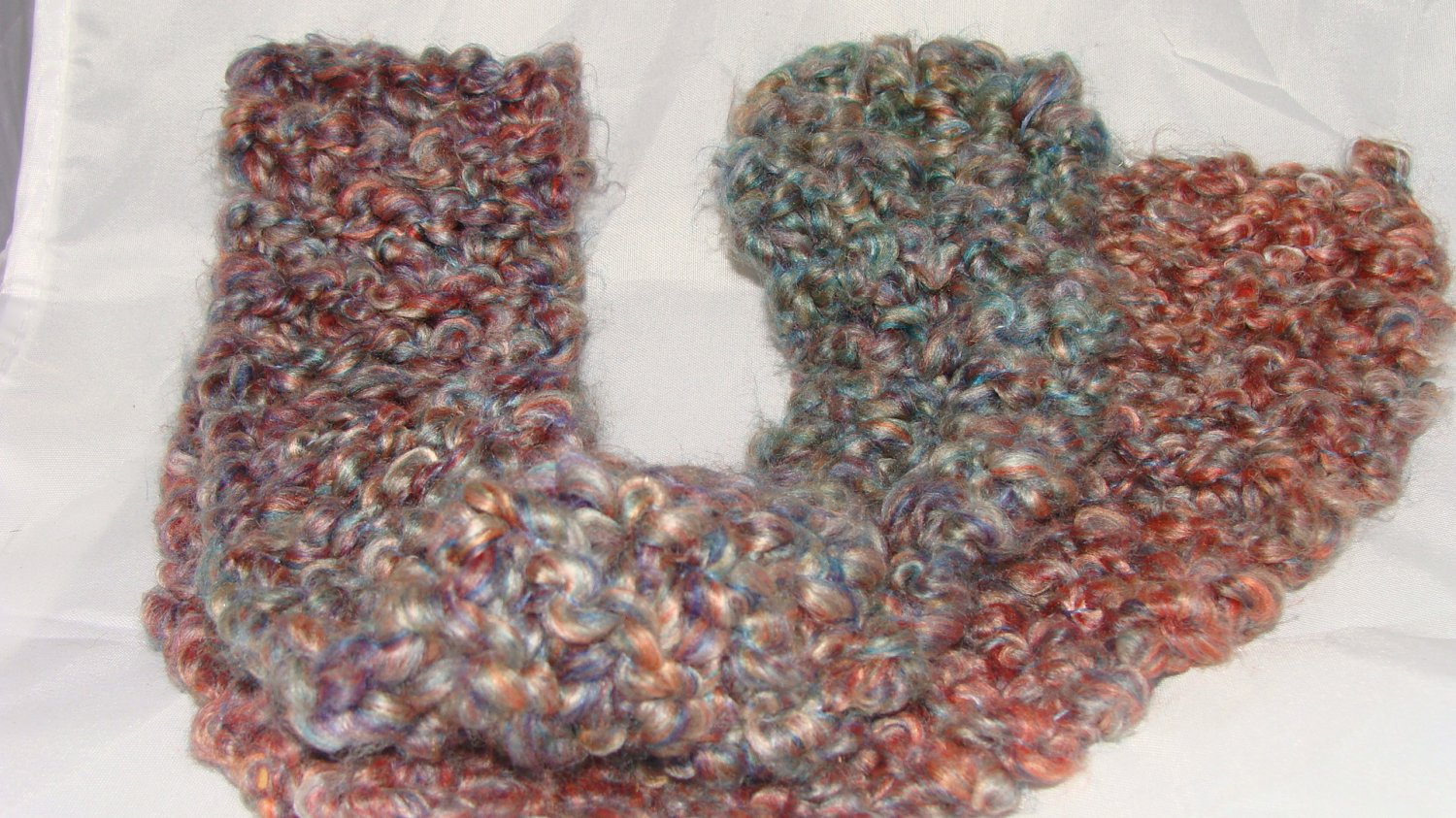 Kids blue and pink soft scarf