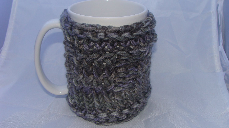 Grey mug koozie