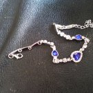 Ladies Silver Bracelet With Ocean Blue Stones