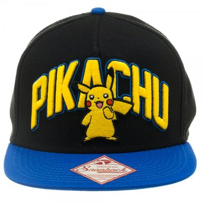 Pokemon Pikachu Black Snapback