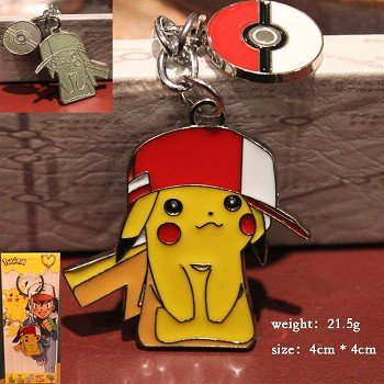 Pokemon pikachu anime key chain
