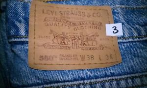 Levi's orange tab 550 Relaxed fit tapered leg 38x34 #3