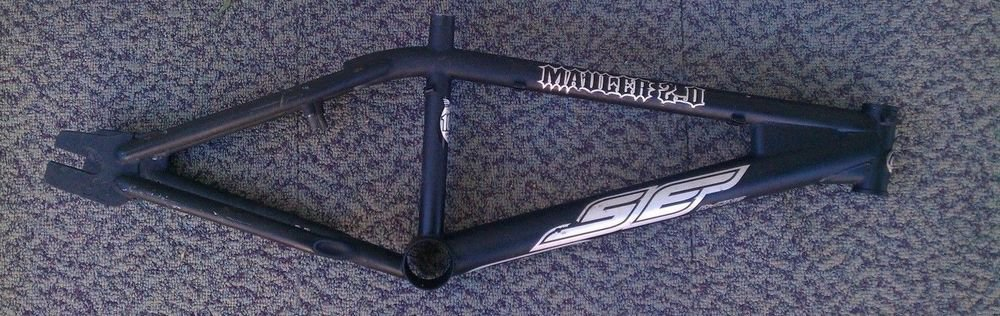 "SE Racing Mauler 2.0 Frame Flat Black 20"" top tube strong 1020 Certified HI TEN"