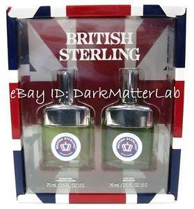 BRITISH STERLING Cologne Gift Set Cologne Spray & 2.5 oz After Shave Splash NEW