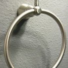 "Large 8"" Wall Mount Towel/Robe Metal Brushed Nickle Finish Modern Towel Ring"