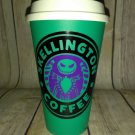 Nightmare Before Christmas Jack Skellington Coffee Travel Mug - teal cup
