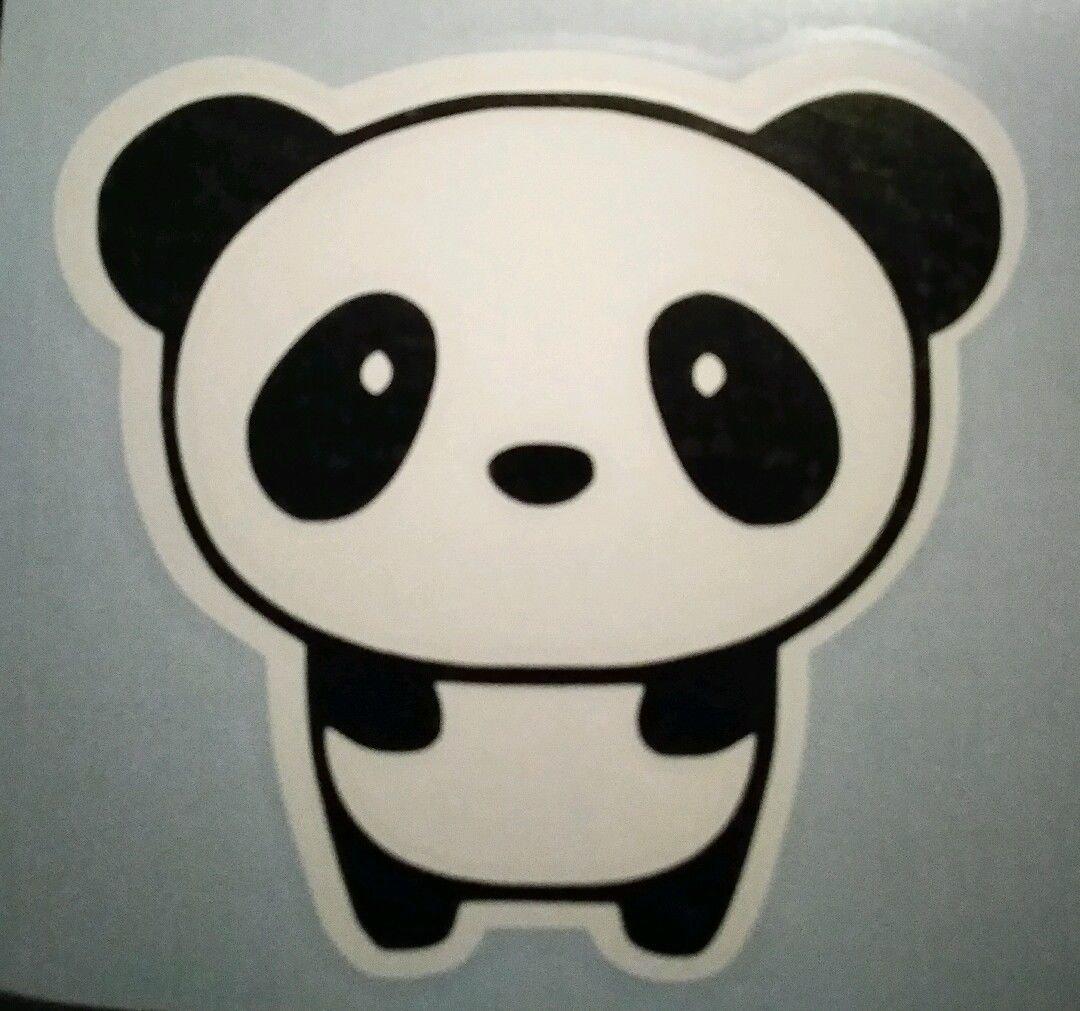 "Cute Lil Panda Decal 3""  - Panda Sticker - Black and White Panda tumbler decal"