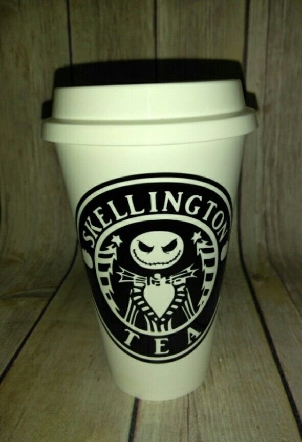 Nightmare Before Christmas Jack Skellington Tea Travel Cup - Coffee