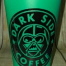 Star Wars- Darth Vader - Dark side coffee  Plastic Reusable Travel Mug - green
